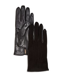 Bloomingdale's Suede Tech Gloves Black