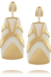 Maiyet Tiger Stripe Gold Plated Resin Earrings