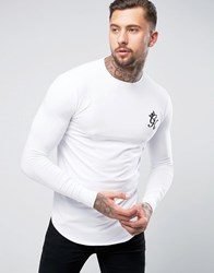 Gym King Long Sleeve T Shirt In Muscle Fit White