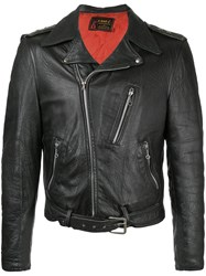 Fake Alpha Vintage 1950S Leather Motorcycle Jacket Black