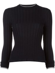 Wunderkind Ribbed Detail Jumper Blue