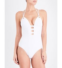 Jets By Jessika Allen Perspective Moulded Swimsuit White