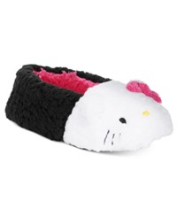 Hello Kitty Faux Sherpa Slippers Black