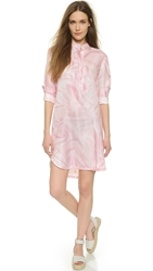 Cynthia Rowley Wrinkle Print Shirtdress Pale Pink