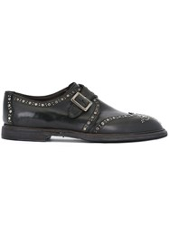 Dolce And Gabbana Studded Monk Shoes Black