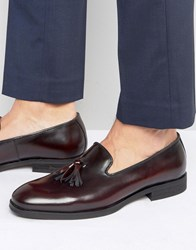 Selected Homme Tassel Loafer Burgundy Red