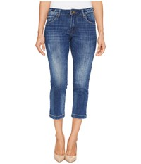 Kut From The Kloth Petite Lauren Crop Straight Leg Jeans In Entrusted Medium Base Wash Entrusted Medium Base Wash Women's Jeans Blue