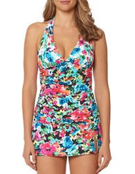 Bleu By Rod Beattie Two Of A Kind Floral Printed Tankini Top Multi
