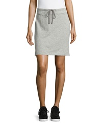 James Perse Drawstring Fleece Skirt Heather Gray