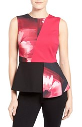 Petite Women's Ellen Tracy Colorblock Peplum Top