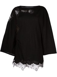 Alberta Ferretti Cut Off Detailing Flared Blouse Black