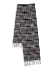 Polo Ralph Lauren Wool And Cashmere Blend Scarf Flannel Grey