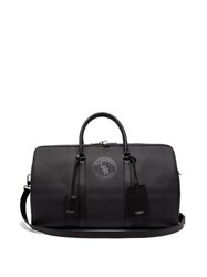 Burberry London Check Coated Canvas And Leather Holdall Grey