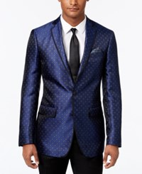 Tallia Men's Navy Paisley Dot Sport Coat