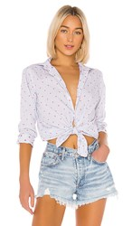 Frank And Eileen Embroidered Button Down In Blue.