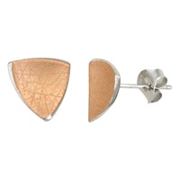 Nina B Triangular Stud Earrings Pink