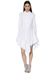 Antonio Berardi Asymmetric Cotton Poplin Dress