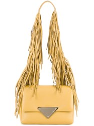 Sara Battaglia Fringed Strap Shoulder Bag Yellow Orange