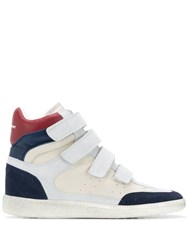 Isabel Marant Colour Block Sneakers White