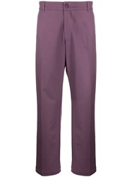 Noon Goons High Rise Tailored Trousers Purple