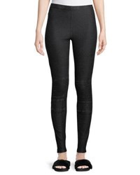 Dex Denim Moto Leggings Black