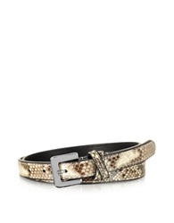 Forzieri Ivory Python Leather Skinny Women's Belt
