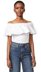 N 21 Off Shoulder T Shirt White