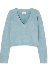 3.1 Phillip Lim Cropped Knitted Sweater Sky Blue