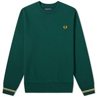 Fred Perry Authentic Crew Sweat Green