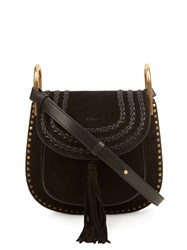 Chloe Hudson Small Leather Shoulder Bag Black