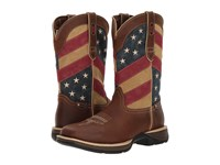 Durango Rebel 12 Flag Brown Patriotic Cowboy Boots