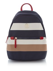 Tommy Hilfiger Nylon Small Backpack Multi Coloured Multi Coloured
