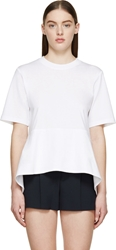 Chloe White Optic Asymmetric A Line T Shirt