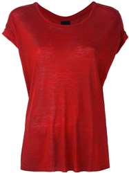 Thom Krom Round Neck T Shirt Red