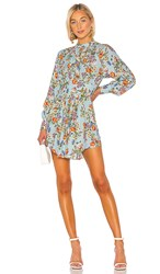 Marissa Webb Winnie Print Dress In Blue. Periwinkle English Bouquet