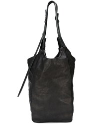 Isaac Sellam Experience Zipped Shoulder Bag Black
