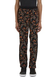 James Long Poppy Print Jogger Pants Black