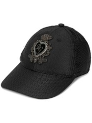 Dolce And Gabbana Textured Cap Black