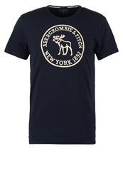 Abercrombie And Fitch Heritage Tech Muscle Fit Print Tshirt Navy Dark Blue
