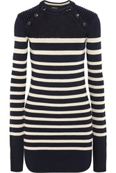 Isabel Marant Haeza Striped Merino Wool Blend Mini Sweater Dress