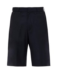 Jacquemus Le Marin Foldable Pocket Wool Shorts Navy