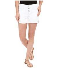 Mavi Jeans Emily Mid Rise Relaxed Shorts In Summer White Boho Summer White Boho Women's Shorts