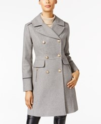 Vince Camuto Double Breasted Peacoat Grey