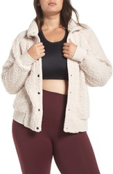 36a861673c3 Zella Plus Size Cozy Up Bomber Jacket Grey Wolf