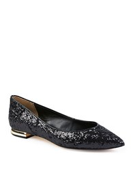 Ted Baker Izlar Glitter Leather Flats Black
