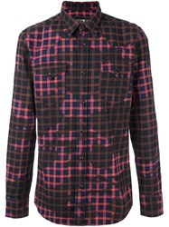 Hydrogen Plaid Stained Effect Shirt Multicolour