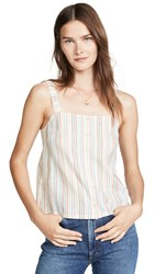 Madewell Button Front Tank Pearl Ivory