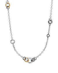 John Hardy 18K Yellow Gold And Sterling Silver Classic Chain Hammered Link Sautoir Necklace 36