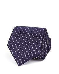 Theory Square Grid Skinny Tie Navy