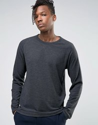 Selected Homme Long Sleeve Top With Raglan Sleeve Grey